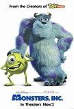 Monsters, Inc. Poster 27x40 John Goodman Billy Crystal Steve Buscemi