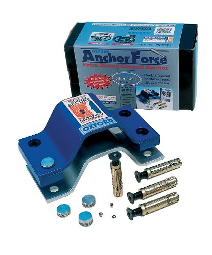 Oxford OF440 Anchor Force Double Layered Hardened Steel Ground Anchor (Best Motorcycle Ground Anchor)