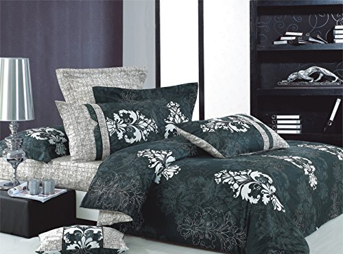 Swanson Beddings Versailles 3-Piece 100% Cotton Bedding Set: Duvet Cover and Two Pillow Shams (Queen) - Versailles Quilt