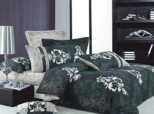 Cheap  Swanson Beddings Versailles 3-Piece 100% Cotton Bedding Set: Duvet Cover and Two..