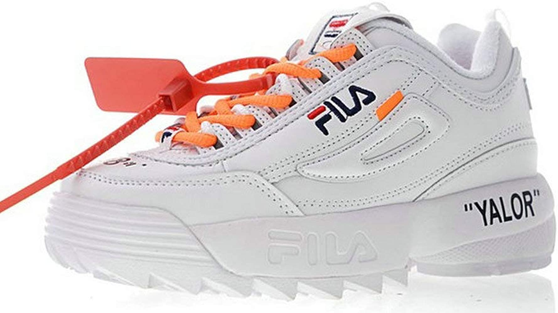 Off White X Fila Disruptor LI 2 White Orange Zapatillas de Running ...