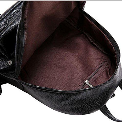 Nero zaino zaino zaino viaggio zaini portamonete borse borsa da zaino spalla borsa andamento ☀️Sunshine☀️borse moda bookbags multiuso indici pelle trekking zaino carino da zaino borsa qYPSxa