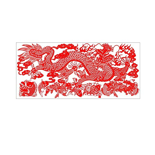 Stamped Cross Stitch Kits Pre-Printed Cross Stitch Chinese Gift - Fish Leaping Over The Dragon gate