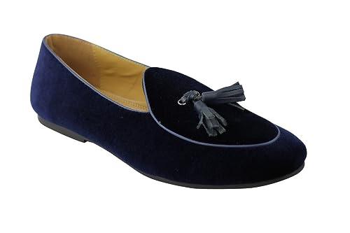 Xposed - Mocasines de Terciopelo para Hombre Azul Azul Oscuro: Amazon.es: Zapatos y complementos