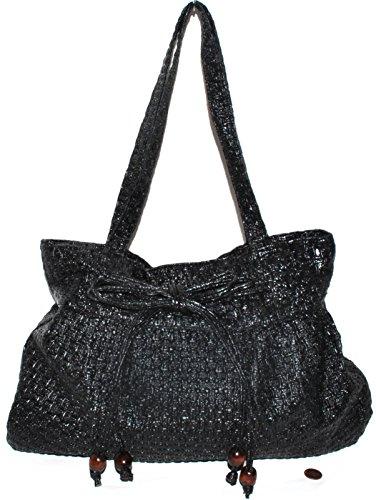 closure Shoulder handle Purse Zipper model21 Bag Women Charming Black 21 Model Top double xpqCSwBH1