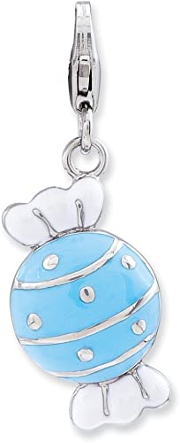 Sterling Silver Enamel Bride w//Lobster Clasp Charm Pendant