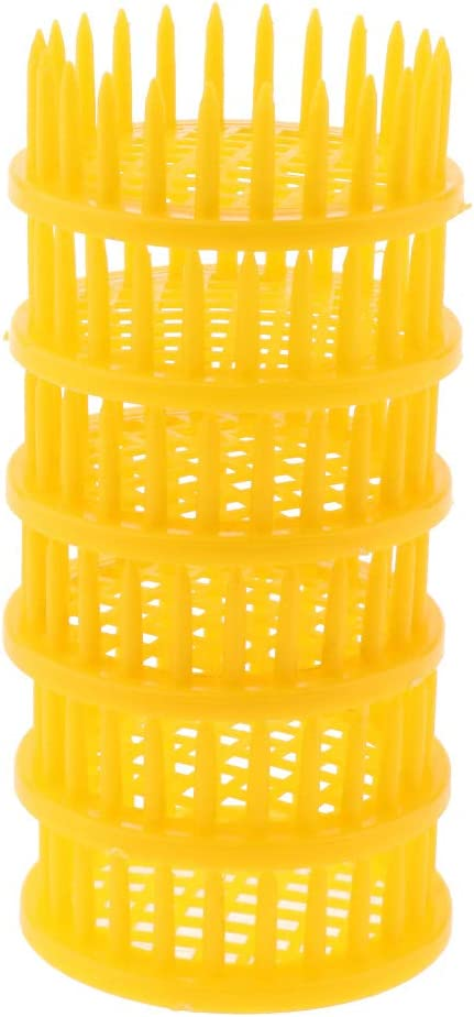 6X Yellow Beekeeping Queen Bee Rearing Cages Isolating Holder Catcher Needle