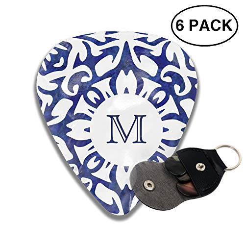 Blue And White Watercolor Spanish Guitar Picks 3 D Print Custom 6pcs 0.46mm 0.71mm And ()