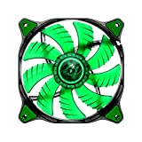 Cougar D12 LED Fan Cooling - Hydraulic Bearing- 1200rpm- 3pin-  Green