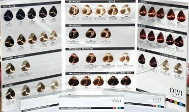 Tinte Olvi Profesional 60ml 6/7 Rubio Oscuro Marron: Amazon ...