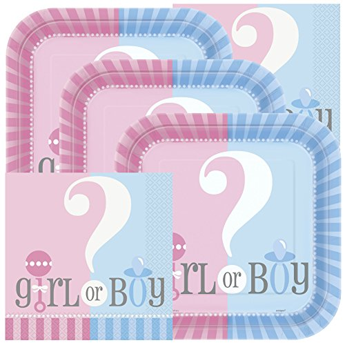 Why Choose Gender Reveal Themed Baby Shower Napkins and Plates (Serves 16)