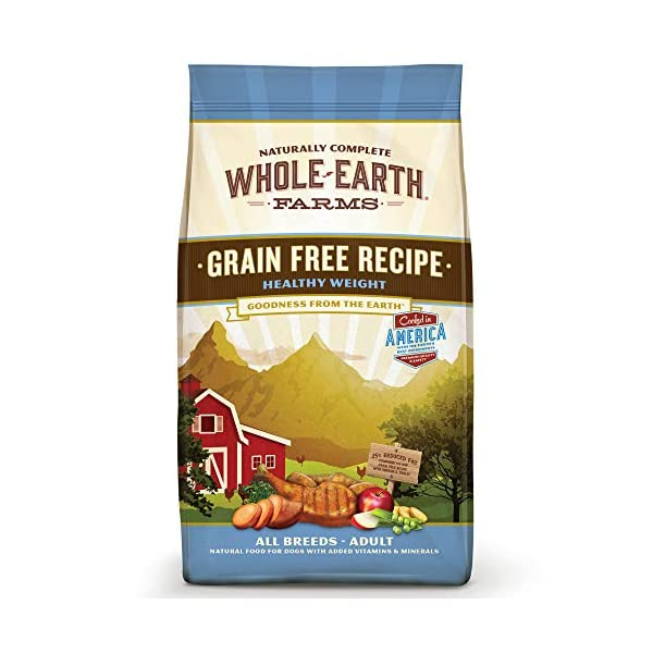Whole Earth Farms Grain Free Weight Control Dry Dog Food; Healthy Weight Recipe