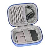 Hard Travel Case for Samsung T3 T5 Portable 250GB 500GB 1TB 2TB SSD USB 3.0 External Solid State Drives by co2CREA (Blue)