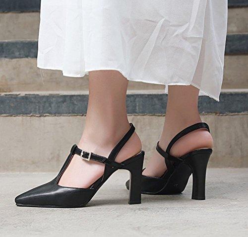 Schwarz Elegant Strass Damen Kleid Carolbar Charm Heel Schuhe High Schnalle 7ZzwnUq5
