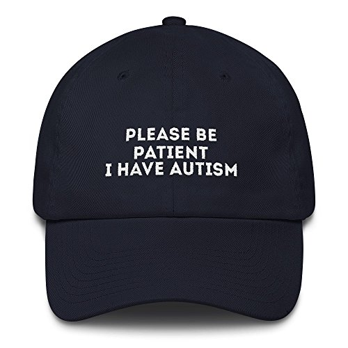 78001baad2b print7trend please be patient i have autism cap Cotton Cap - Made in The  USA - Buy Online in UAE.