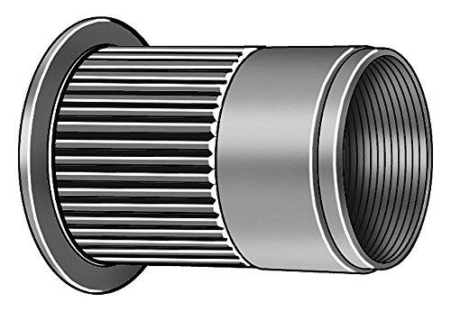 (Rivet Nut, Knurled Flanged, Aluminum, PK50)