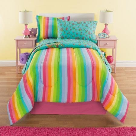 6-Piece Bed-In-A-Bag Bedding Set - Completely reversible and is cotton rich for comfort every night.