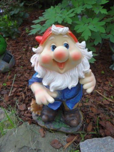 Enano de jardín con hacha en hombro Figura enanito de jardín: Amazon.es: Jardín