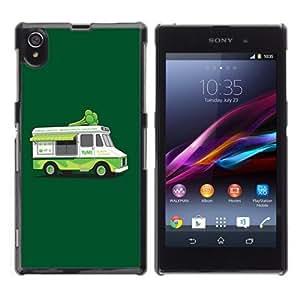 YOYOSHOP [Funny Vegeterian Brocoly Truck] Sony Xperia Z1 L39h Case