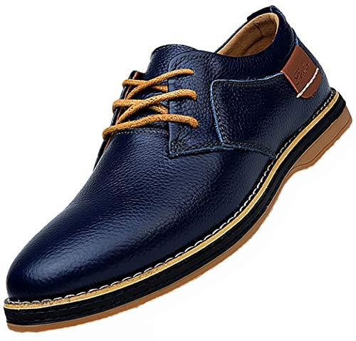Bruno Marc Shoes Men's Dress Shoes Leather Dress Men Dress Shoes Italian Leather Shoes Men Mens Shoes Genuine Leather Leather Shoes Shoes Leather Shoes Genuine Leather Size 8.5 (6111navyblue42)