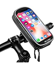 Fietshouder voor mobiele telefoon, waterdicht, universele motorhouder met gevoelig touchscreen, telefoonhouder voor iPhone (mobiele telefoon tot 6,3 inch)
