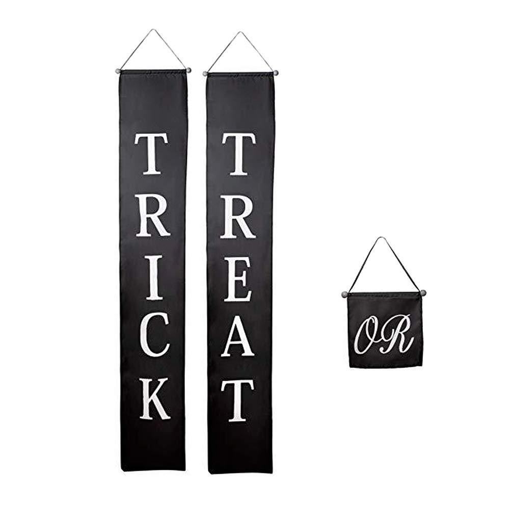 LAMF - Cartel de Halloween para truco o golosinas, 3 piezas ...