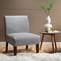 Christopher Knight Home 299753 Kendal Grey Fabric Accent Chair, One