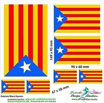 Pegatinas Juego de Cataluña de España Estelada BLAVA: Amazon.es ...