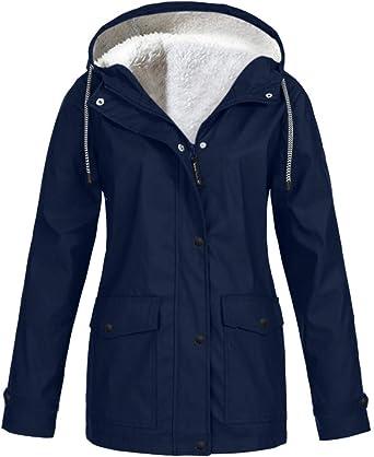 Voicry damska kurtka przeciwdeszczowa na świeżym powietrzu, rozmiar plus, wodoszczelna z kapturem, płaszcz przeciwdeszczowy, wiatroszczelna: Odzież