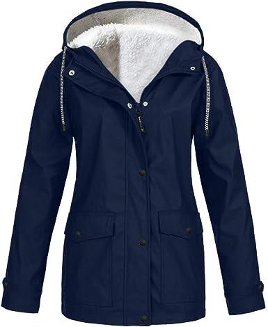 New Womens Polyester Kagool Mac Raincoat Hooded Waterproof Jackets S-2XL