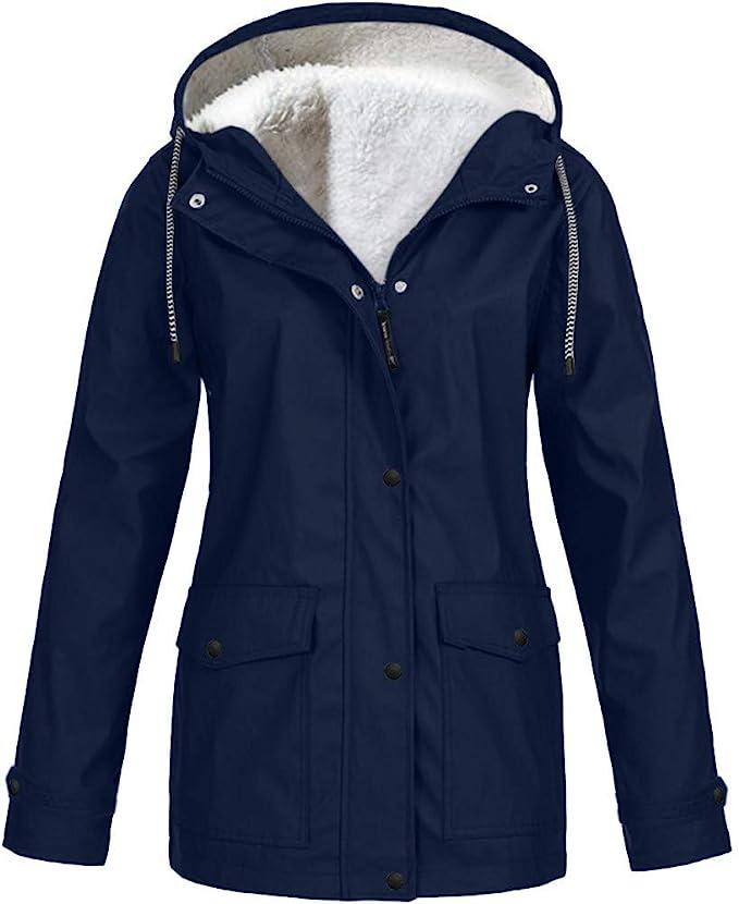 Girls Womens Navy Line Rain Mac RainCoat Festival Jacket Kagool Showerproof