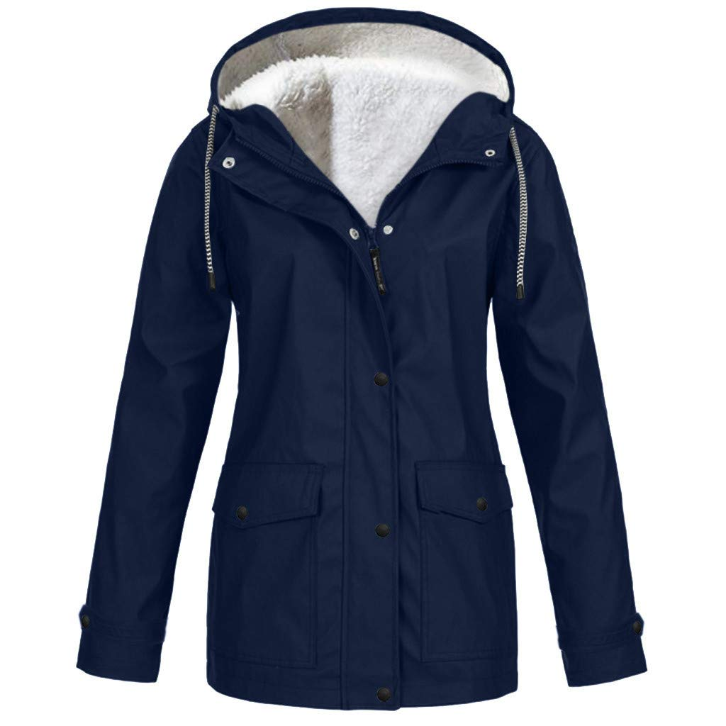 SEXYTOP Women's Winter Parka Warm Thicken Windbreaker Hooded Jacket Outdoor Casual Waterproof Rain Coat Trench Outerwear by SEXYTOP