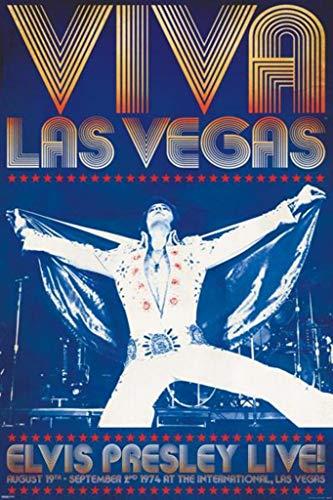 Pyramid America Elvis Presley Viva Las Vegas Poster 24x36 inch