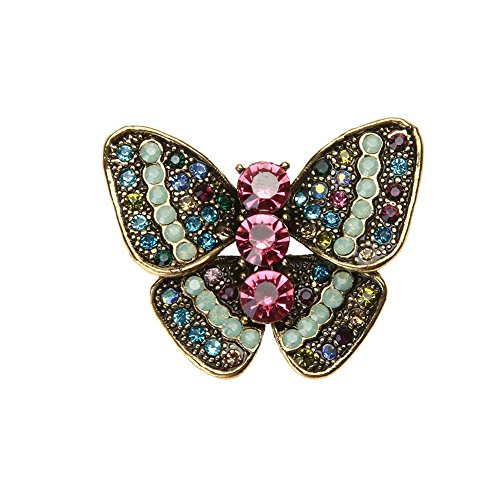 (ForU-1 Colorful Butterfly Shaped Brooch Corsage Retro Insect Series Brooch Pin Decor)
