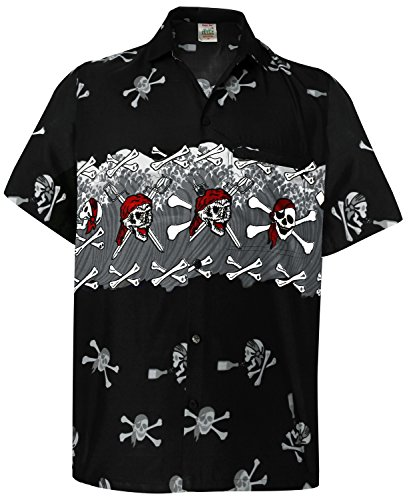 Hawaii Vintage Surfing Button Up Hawaiian Halloween Theme Shirts For Men 1115 Grey Xl Red_Skull Gift Spring Summer 2017