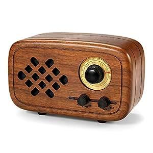Rerii Handmade Walnut Wood Portable Bluetooth Speaker