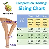Thigh High Compression Stockings With Open Toe from