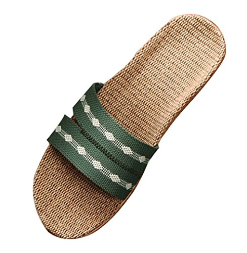 Cattior Womens Light Comfy House Slippers Ladies Slippers Green 0A1rF