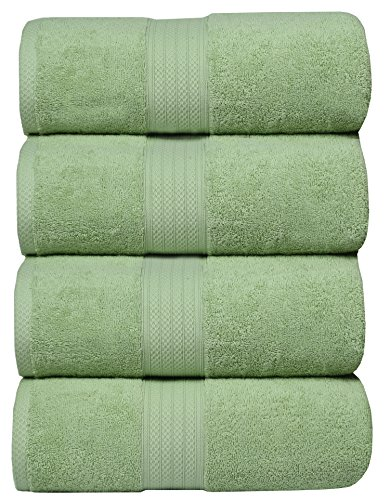MAHI HOME Luxurious & Ultra Soft set of 4 Terry Bath Towel,