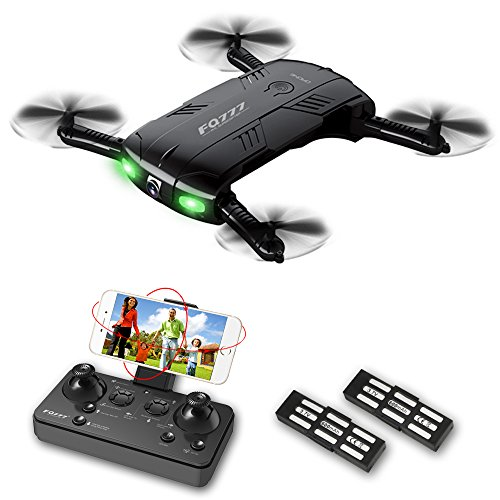 Quadcopter Drone with Camera Live Video RC Toys Pocket Mini Drone Easy to Use for Beginners 2.4G 6-Axis Headless Mode One Key Return 3D Flips and Rolls RTF Helicopter