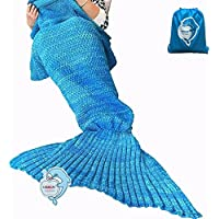 LAGHCAT Mermaid Tail Blanket Crochet and Mermaid Blanket...