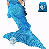 Mermaid Tail Blanket Crochet and Mermaid Blanket for adult, Super Soft All Seasons Sleeping Blankets