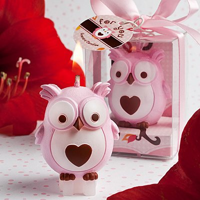 Fashioncraft Adorable Owl Candles, Pink, Health Care Stuffs