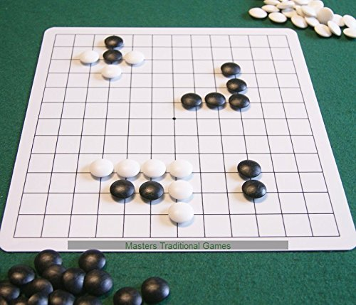 5 x Go Masters Entry-Level Go Sets - dual sided board  plastic stonesの商品画像