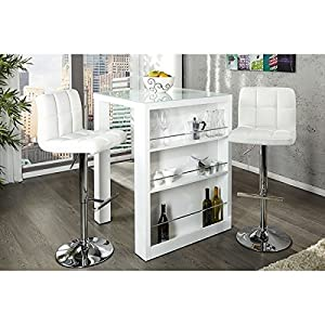 Neofurn   ENZO   Breakfast Bar White High Gloss Kitchen Bar Table