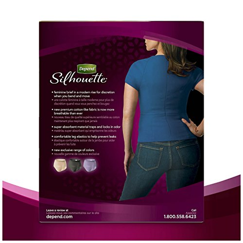 Depend Silhouette Incontinence Underwear for Women, Maximum Absorbency, L/XL, Beige, 52 Count by Depend (Image #11)