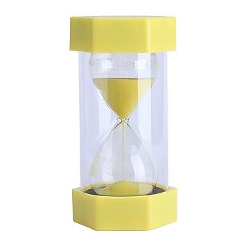 Compra Cristal de arena de vidrio reloj de arena 3/10/20/30/60 Minutos temporizador reloj Home Office Decoración regalo(3 minutes yellow) en Amazon.es