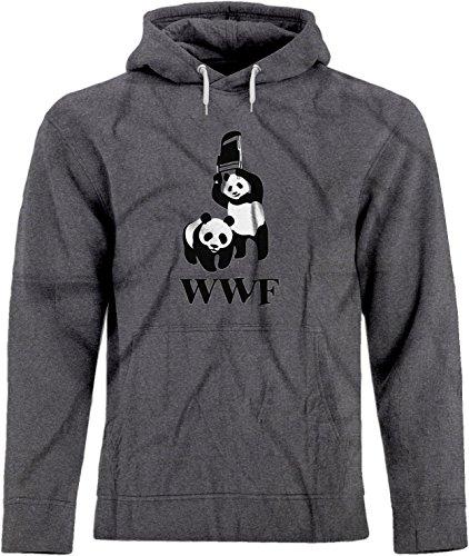 BSW Men's WWF WWE Panda Wrestling Chair Premium Hoodie 4X...