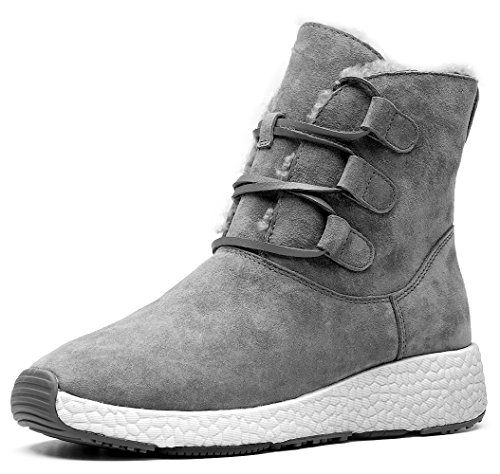 Suede Boot Snow Feature Grey Lace amp;MU AU Nubuck Winter up qatt81