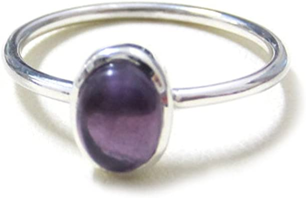 Sterling Silver Lapis Lazuli Gemstone Ring Band Stackable Stack Sz 5 6 8.5 9
